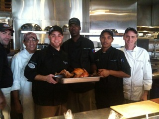 "Chef Patrick Keefe & his team at Legal ""C"" Bar on Thanksgiving Day"